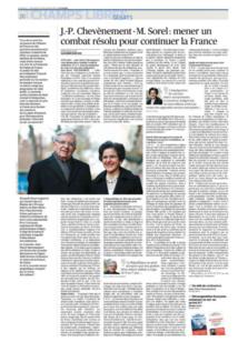 Chevènement - Sorel: mener un combat résolu pour continuer la France