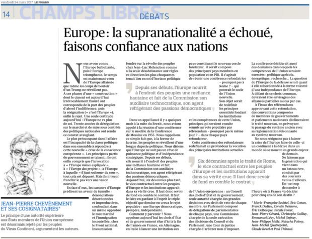 Europe: la supranationalité a échoué, faisons confiance aux nations
