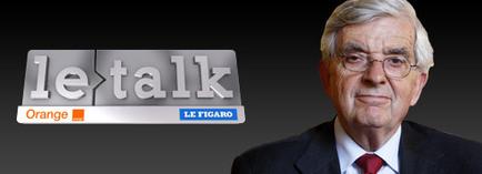 Jean-Pierre Chevènement invité du Talk Orange Le Figaro lundi 16 mars à 18h