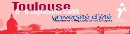 Venez nombreux à l'université d'été du Mouvement Républicain et Citoyen !