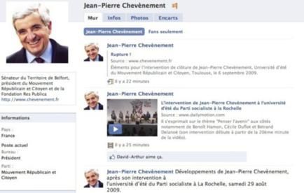 Rejoignez la page de Jean-Pierre Chevènement sur Facebook