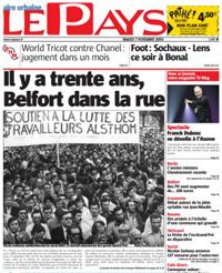 Entretien au journal Le Pays sur le 30ème anniversaire de la grève d'Alsthom Belfort en 1979