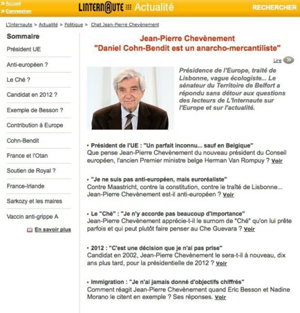 Capture d'écran du site linternaute.com