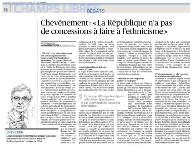 """""""La République n'a pas de concessions à faire à l'ethnicisme"""""""