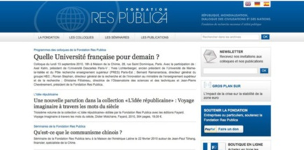 Capture du site www.fondation-res-publica.org