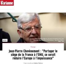"""""""Partager le siège de la France à l'ONU, ce serait réduire l'Europe à l'impuissance"""""""