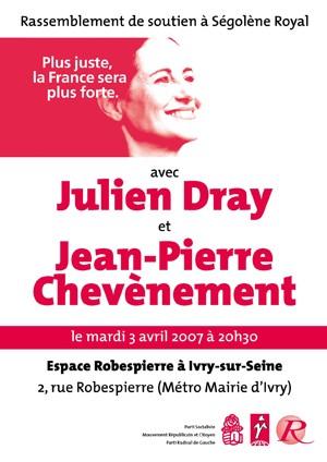 Réunion publique avec Jean-Luc Laurent et Julien Dray mardi 3 avril à Ivry-sur-Seine à 20h30