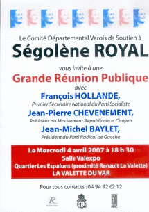Réunion publique dans le Var mercredi 4 avril à 18h30 avec François Hollande et Jean-Michel Baylet