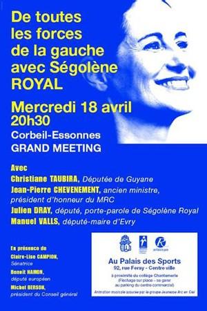 Jean-Pierre Chevènement en meeting à Corbeil-Essonnes mercredi 18 avril à 20h30