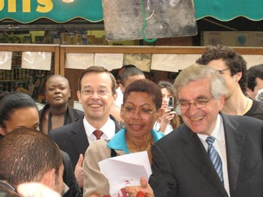 Jean-Pierre Chevènement au marché Davout mardi 17 avril à 11h15