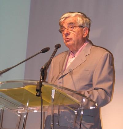 Jean-Pierre Chevènement lors de son discours de clôture de l'université d'été du MRC, dimanche 9 septembre 2007