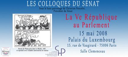 Jean-Pierre Chevènement au colloque « la Vème République au Parlement »
