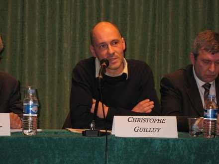 Christophe Guilluy pendant le colloque de la Fondation Res Publica