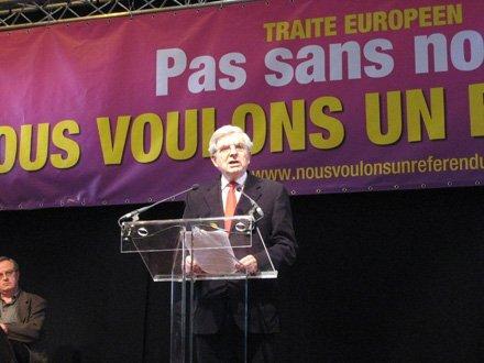Jean-Pierre Chevènement au rassemblement du CNR, samedi 2 février, Paris