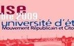 Le programme final de l'université d'été du Mouvement Républicain et Citoyen