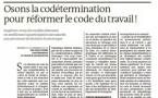 Osons la codétermination pour réformer le code du travail!