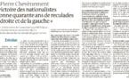 """""""La victoire des nationalistes couronne quatre décennies de reculades de la droite et de la gauche"""""""