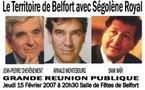 Grande réunion publique à Belfort avec Arnaud Montebourg (PS), Sami Naïr (MRC) et Jean Pierre Chevènement