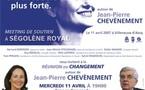 Jean-Pierre Chevènement en meeting à Villeneuve d'Ascq mercredi 11 avril à 19h