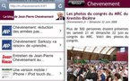 Une version mobile / iPhone / iPod touch du blog de Jean-Pierre Chevènement